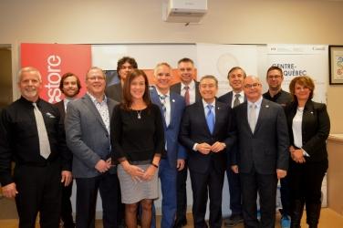 Soutien au développement de cinq entreprises de la région du Centre-du-Québec